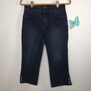 NYDJ Size 4P Ariel Cropped Jeans with Side Details